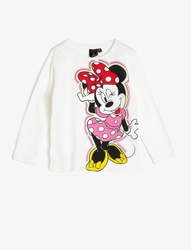 Koton Kids Minnie by Koton T-Shirt Ekru